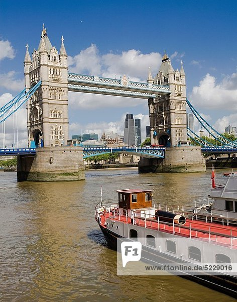 Europa  Großbritannien  London  Hauptstadt  Themse  England  Tower Bridge