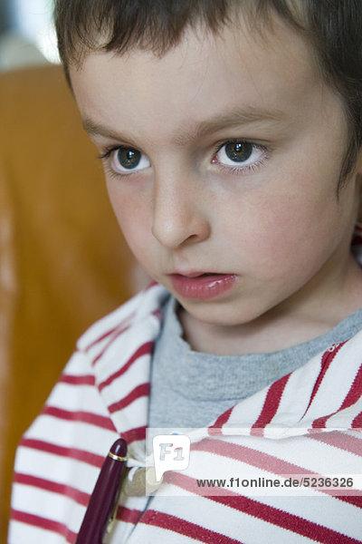 Boy looking away  portrait