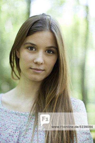 Young woman in nature  portrait