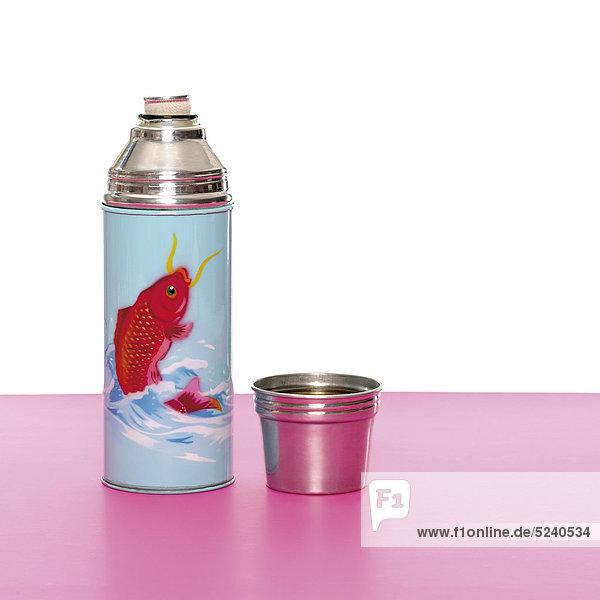 Bunte Thermosflasche