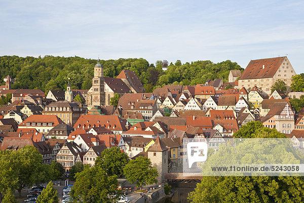 Deutschland  Baden-Württemberg  Schwabisch Hall  Blick ins Stadtbild