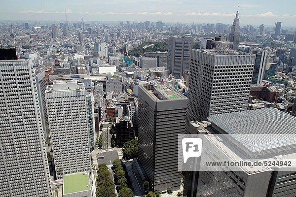Stadt  Fenster  Gebäude  Tokyo  Hauptstadt  Regierung  Hochhaus  Büro  Luftbild  1  Japan  Sternwarte  Shinjuku