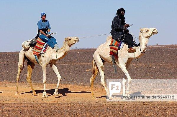 Führung  Anleitung führen  führt  führend  Erschöpfung  fahren  Tourist  Wüste  Sahara  Libyen  Nomade  Tuareg