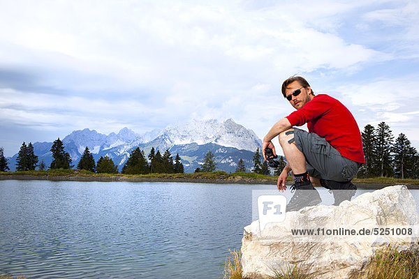 Wanderer  St. Johann  Tirol  Österreich