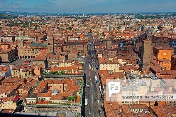 Bologna  Aerial view  Emilia Romagna  Italy  Europe.