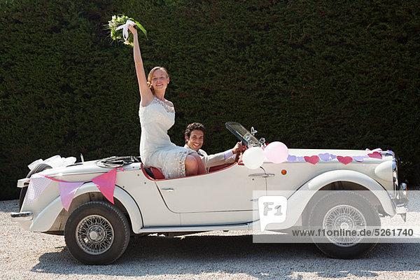Hochzeit Auto Retro Hochzeitsreise verlassen Hochzeit,Auto,Retro,Hochzeitsreise,verlassen