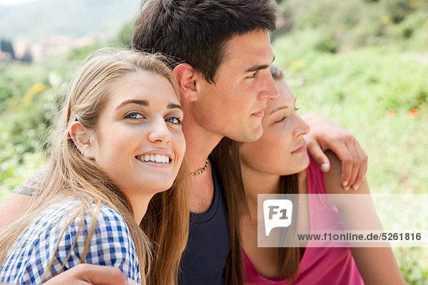 Drei junge Freunde  portrait