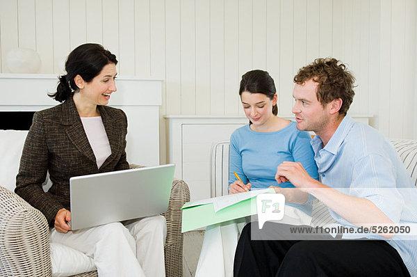 Interior  zu Hause  Finanzen  Rat  Besuch  Treffen  trifft