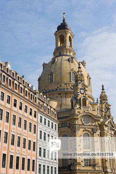 Frauenkirche und Neumarkt  Dresden  Deutschland