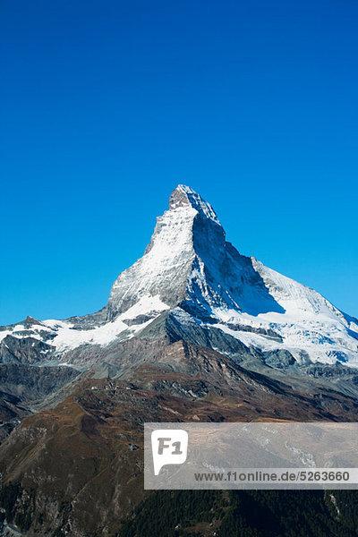 Matterhorn  Penninische Alpen  Schweiz