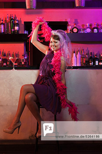 Young woman on hen night