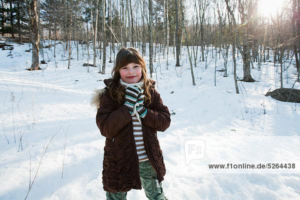 Girl in snow  portrait