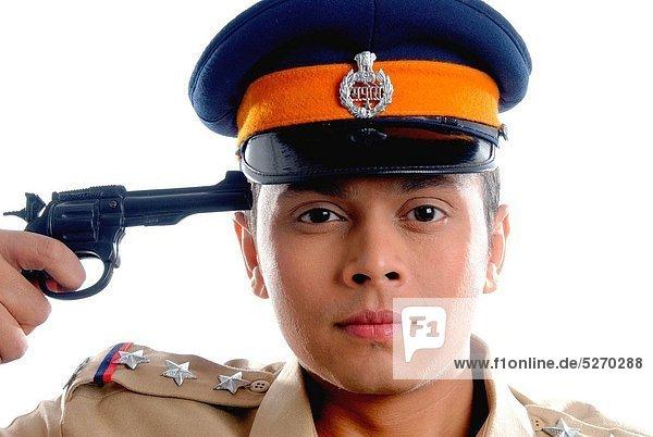 zielen  Prüfung  Pistole  Polizei