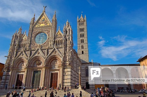 Siena  Duomo  Cathedral  Duomo Cathedral   UNESCO World Heritage Site  Tuscany  Italy.
