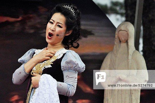 Seoul  Hauptstadt  Sänger  Betrieb  Oper  spielen