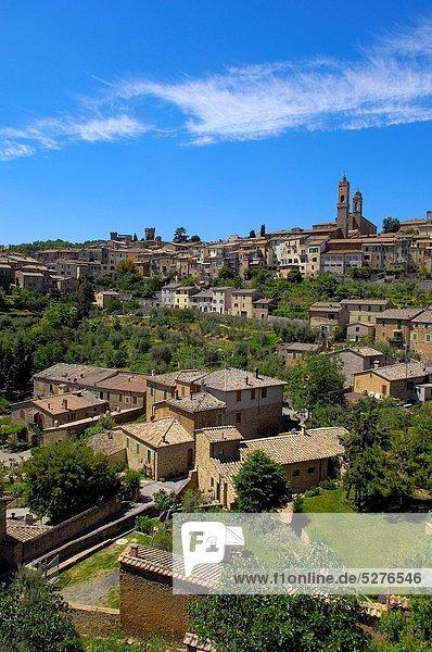 Europa UNESCO-Welterbe Italien Montalcino Toskana