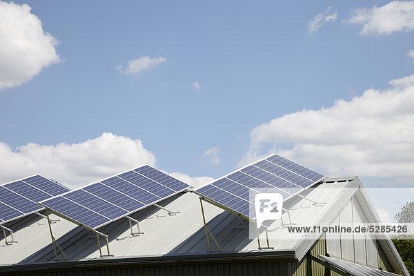 Dach Wohnhaus Sonnenenergie