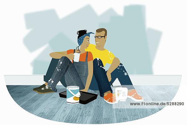 Entspannung schmücken Eigentumswohnung neues Zuhause