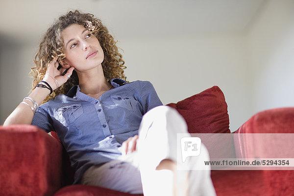Frau  Entspannung  Sessel