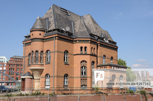 Old police station in Hamburg  Germany  Europe