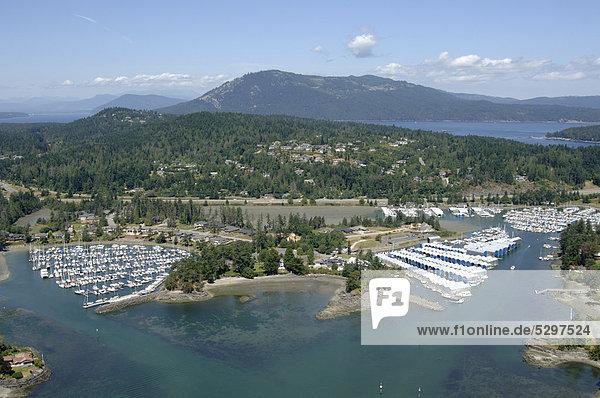 Luftaufnahme der Jachthafen von Sidney  Vancouver Island  British Columbia  Kanada