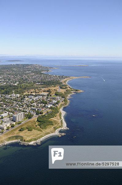 Luftaufnahme  Beacon Hill Park und Victoria  Vancouver Island  British Columbia  Kanada