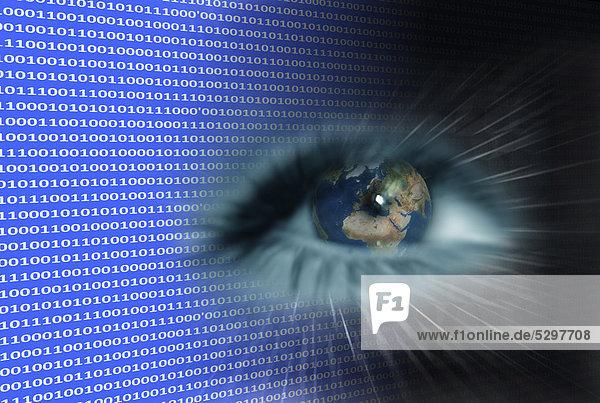 Multimedia-Auge  Symbolbild Datenstrombetrachtung