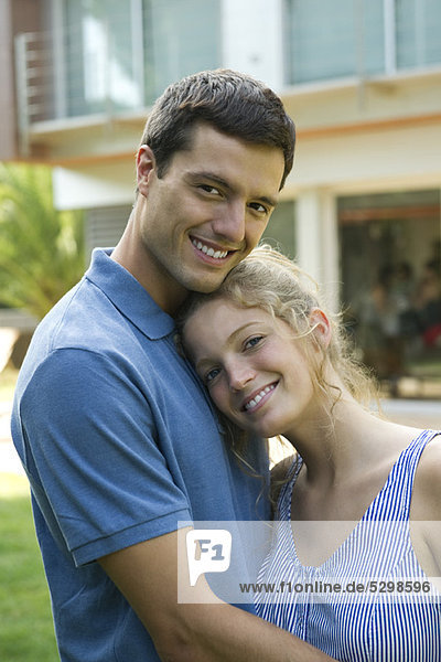 Couple together outdoors  portrait