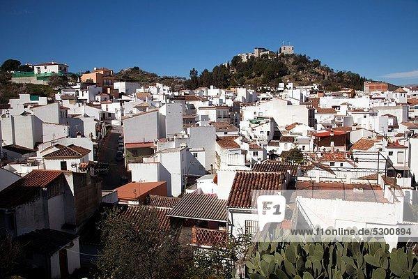White village of Monda  Malaga Province  Andalusia  Spain.