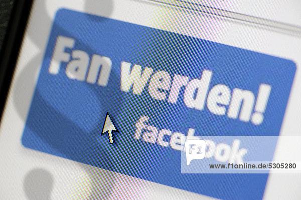 Fan werden  Button auf Facebook
