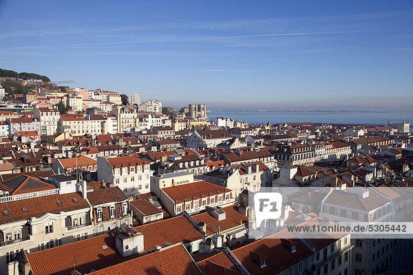 Overlooking Alfama  Lisbon  Portugal  Europe