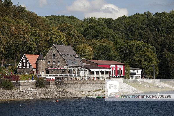 Cafe Solo Loft am Möhnesee  Talsperre  Naturpark Arnsberger Wald  Sauerland  Nordrhein-Westfalen  Deutschland  Europa  ÖffentlicherGrund