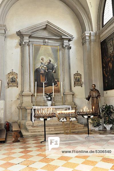 Seitenaltar  Kirche San Martino Vescovo  16. Jahrhundert  Burano  Venedig  Venetien  Italien  Europa