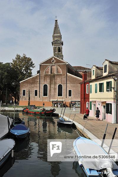 Europa Insel Venetien Burano Italien Lagune