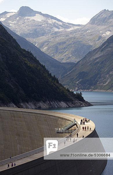 Koelnbreinsperre  reservoir  Austria's tallest concrete dam  Carinthia  Austria  Europe