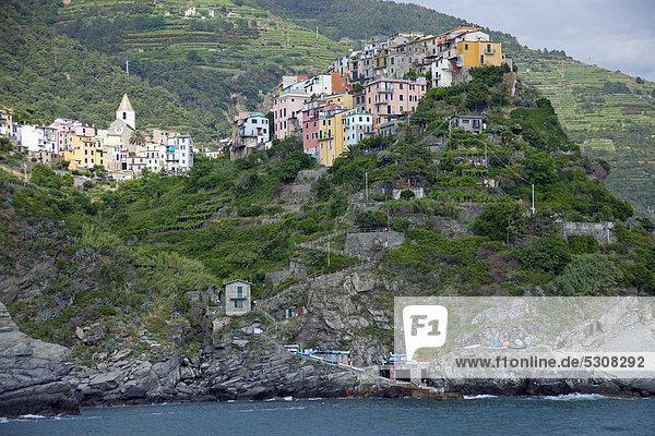 Nationalpark Europa Corniglia UNESCO-Welterbe Cinque Terre Italien Ligurien Provinz La Spezia