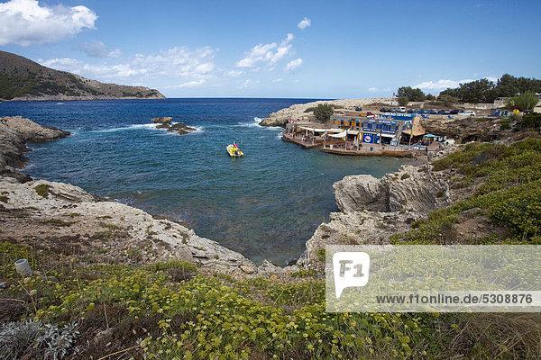Europa klein Schule (Einrichtung) Balearen Balearische Inseln Bucht Cala Ratjada Idylle Mallorca Mittelmeer Spanien