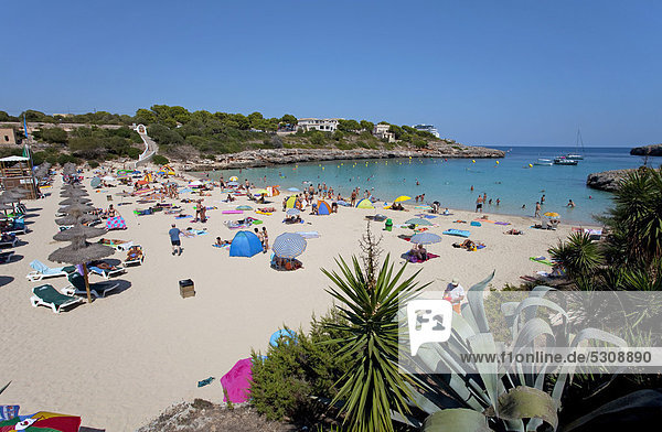 Cala Marcal beach  Porto Colom  Felanitx  Majorca  Balearic islands  Spain  Mediterranean Sea  Europe