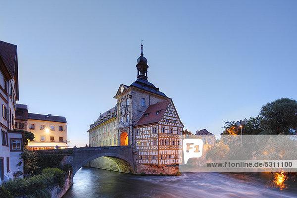 Europa Bamberg Bayern Franken Deutschland Altes Rathaus Oberfranken