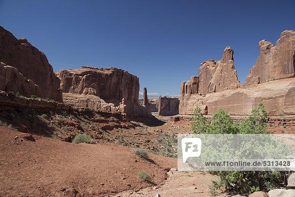 Park Avenue im Arches-Nationalpark  Moab  Utah  USA