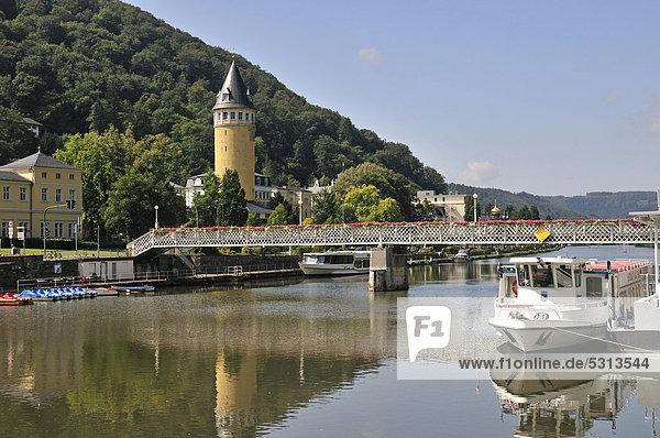 Quellenturm tower  Bad Ems  Rhineland-Palatinate  Germany  Europe  PublicGround