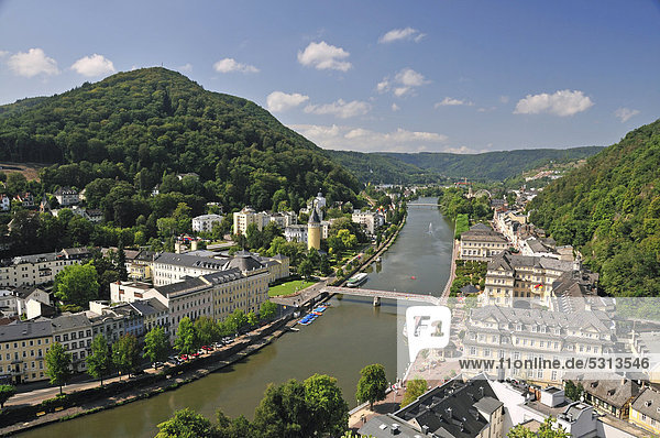 Bad Ems on the Lahn River  Rhineland-Palatinate  Germany  Europe  PublicGround