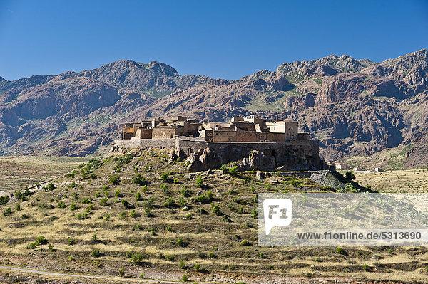 Speicherburg  Agadir Tizourgane  Antiatlas  Südmarokko  Marokko  Afrika