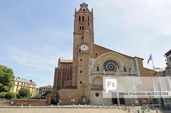 Kathedrale Saint Etienne  Toulouse  Departement Haute-Garonne  Midi-Pyrenees  Frankreich  Europa