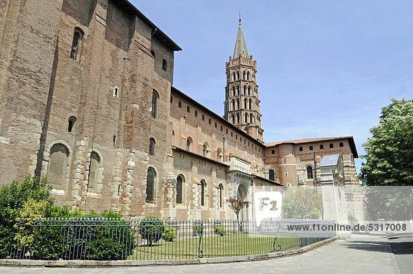 Basilika Saint Sernin  Toulouse  Departement Haute-Garonne  Midi-Pyrenees  Frankreich  Europa