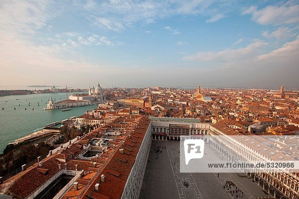 Aerial view of Venice from Saint Mark´s bell tower