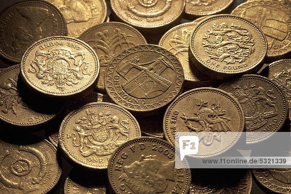 Britische Währung Pfund Sterling Britisches Pfund Münzen