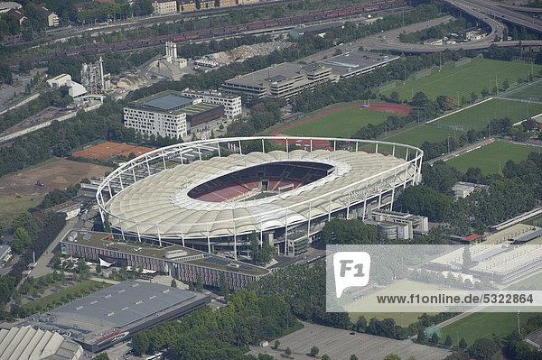 Luftbild  Neckarpark  VfB Stadion  Mercedes-Benz-Arena  Stuttgart  Baden-Württemberg  Deutschland  Europa