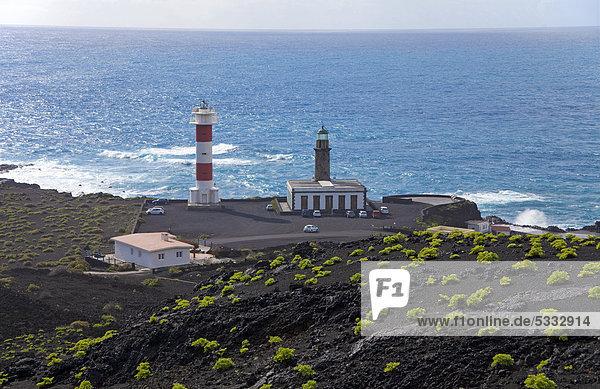 Europa Leuchtturm Kanaren Kanarische Inseln Atlantischer Ozean Atlantik Faro La Palma neu alt Spanien