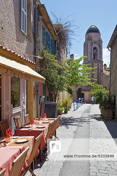 Frankreich Europa klein Gasse Restaurant Var